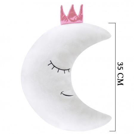 Ay Figürlü Yastık 35 cm Pembe