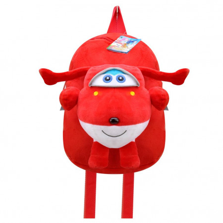 Harika Kanatlar Kırmızı Jett Peluş Çanta Okul Sırt Çantası 30 cm