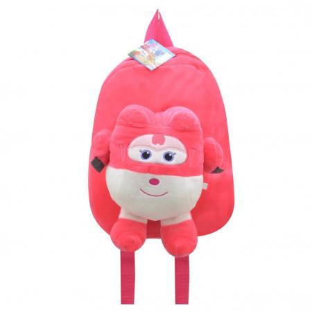 Harika Kanatlar Dizzy Fuşya Peluş Çanta Okul Sırt Çantası 30 cm