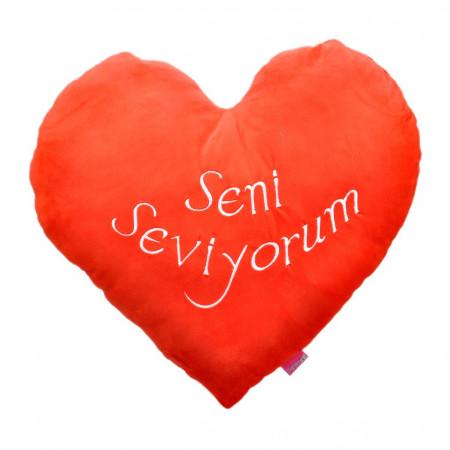 Kalpli Seni Seviyorum Kalp Yastık 36 cm 1154