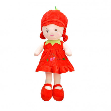 Peluş Bebek 37 cm Kırmızı 3428