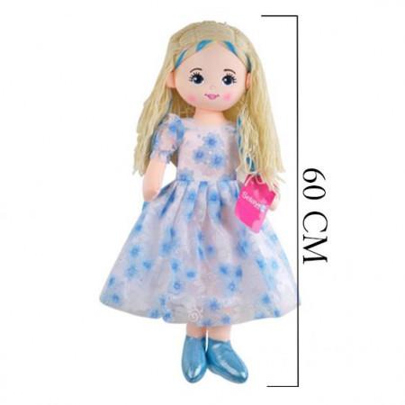 Peluş Bebek 60 cm Mavi 3423