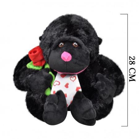 Çiçekli Goril 28 cm Siyah