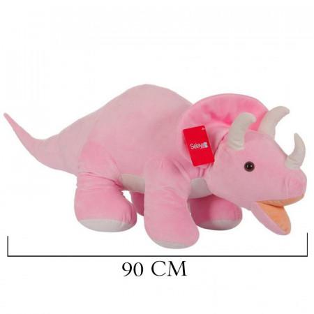 Triceratops 90 cm Pembe