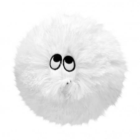 Flausy Puf Yastık 25 cm Beyaz
