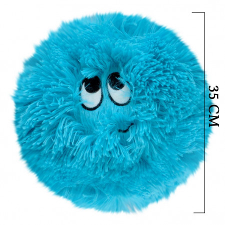 Flausy Puf Yastık 35 cm Mavi 1004