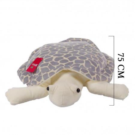 Peluş Kaplumbağa Caretta 75 cm Gri 9004