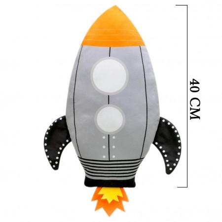 Roket Figürlü Yastık 40 cm 2012